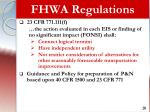 fhwa regulations