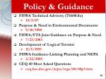 policy guidance