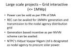 large scale projects grid interactive 1mwp