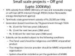 small scale projects off grid upto 100kwp