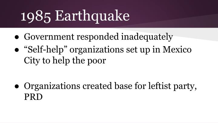 1985 Earthquake