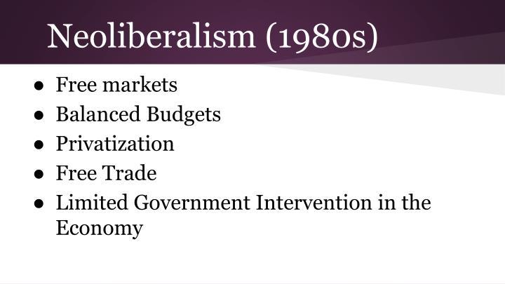 Neoliberalism (1980s)