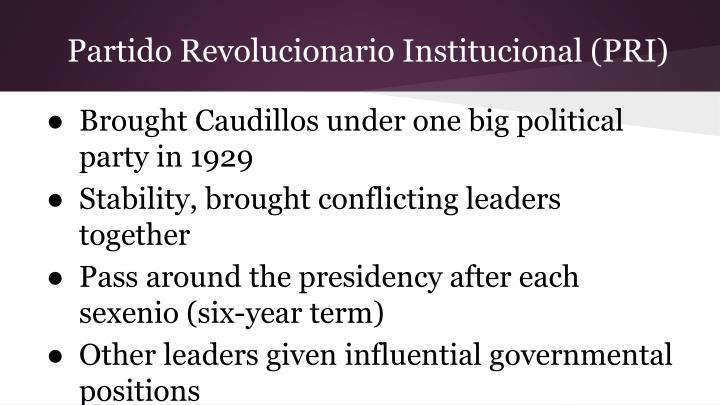 Partido Revolucionario Institucional (PRI)