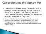 cambodianizing the vietnam war