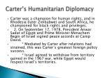 carter s humanitarian diplomacy