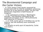 the bicentennial campaign and the carter victory
