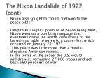 the nixon landslide of 1972 cont