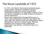 the nixon landslide of 1972