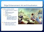 edge enhancement art and visualization