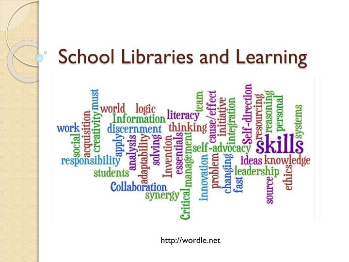 school libraries and learning n.