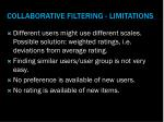 collaborative filtering limitations