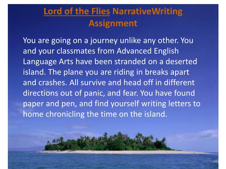 lord of the flies n arrativewriting assignment n.