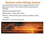 narrative letter writing content