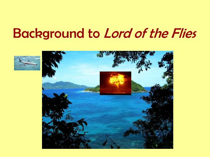 background to lord of the flies n.