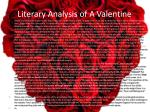 literary analysis of a valentine
