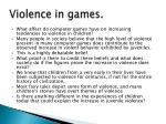 violence in games