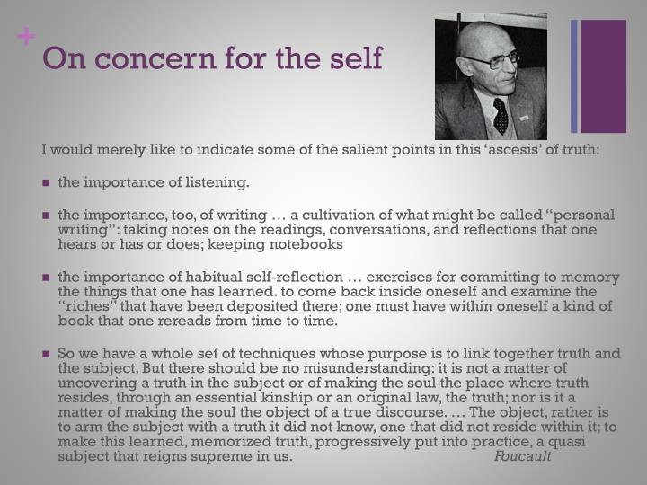 On concern for the self