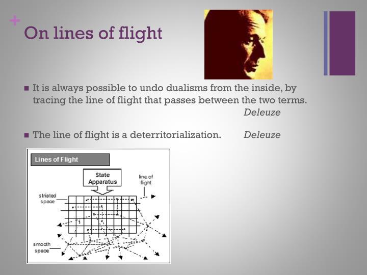 On lines of flight