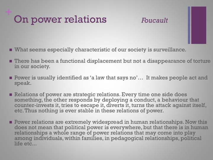 On power relations