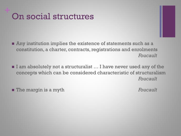 On social structures