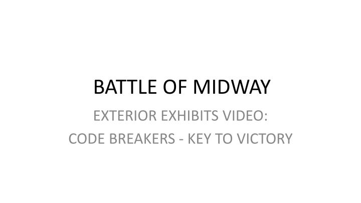 battle of midway n.