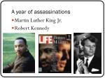 a year of assassinations