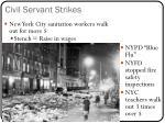 civil servant strikes