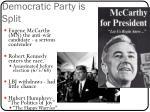 democratic party is split