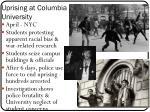 uprising at columbia university