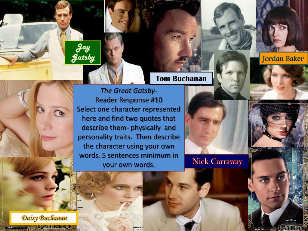 PPT - The Great Gatsby Reader Response #1 PowerPoint