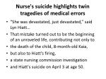 nurse s suicide highlights twin tragedies of medical errors2