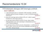 raccomandazione 10 34