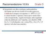 raccomandazione 10 9 b grado d