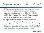 raccomandazione 11 15 f grado d