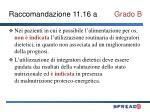raccomandazione 11 16 a grado b