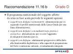 raccomandazione 11 16 b grado d