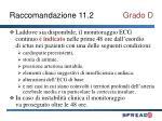 raccomandazione 11 2 grado d