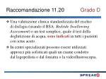 raccomandazione 11 20 grado d