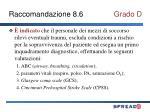 raccomandazione 8 6 grado d