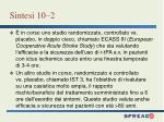 sintesi 10 21