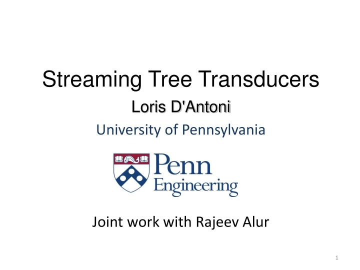 streaming tree transducers n.