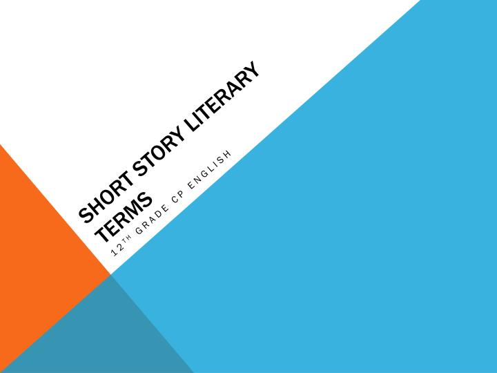 short story literary terms n.
