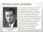 professor robert woodward