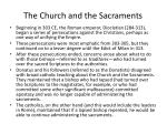 the church and the sacraments
