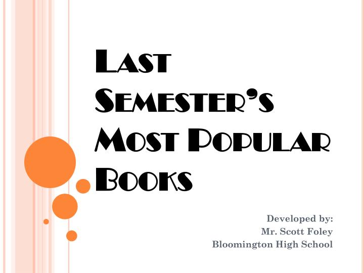 last semester s most popular books n.