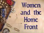 women and the home front