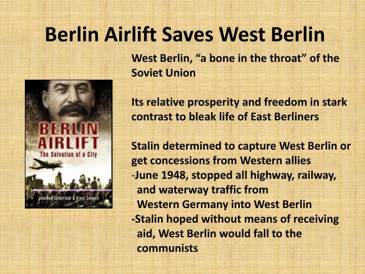 Berlin Airlift Saves West Berlin