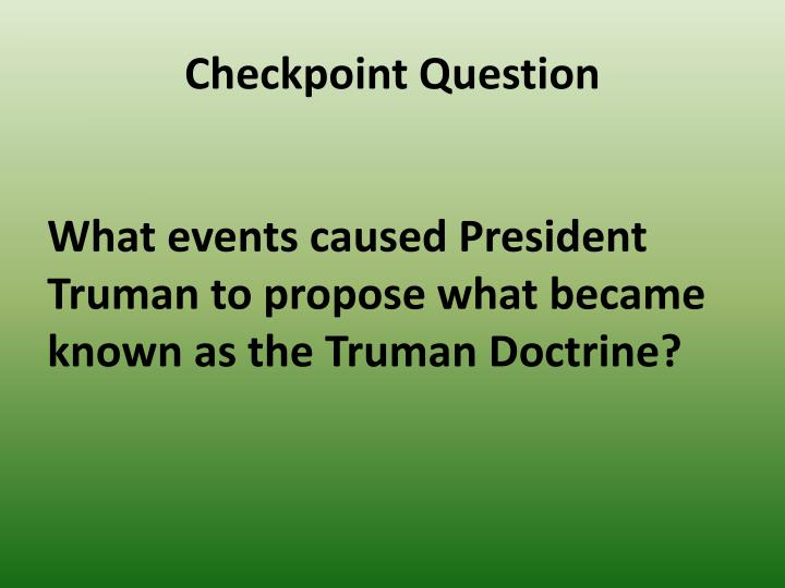 Checkpoint Question
