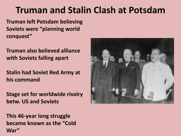 Truman and Stalin Clash at Potsdam
