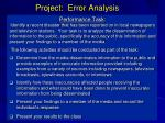project error analysis1